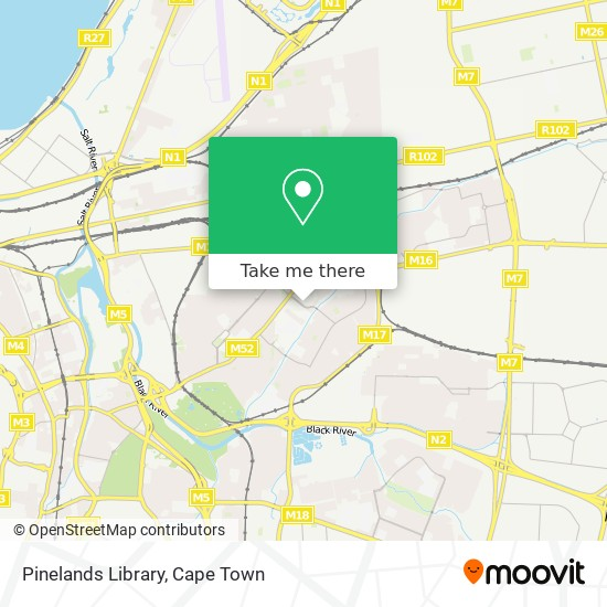 Pinelands Library map