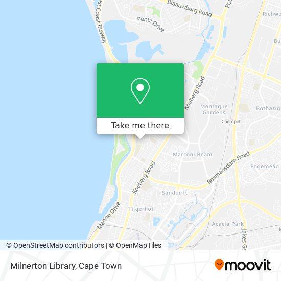 Milnerton  Library map