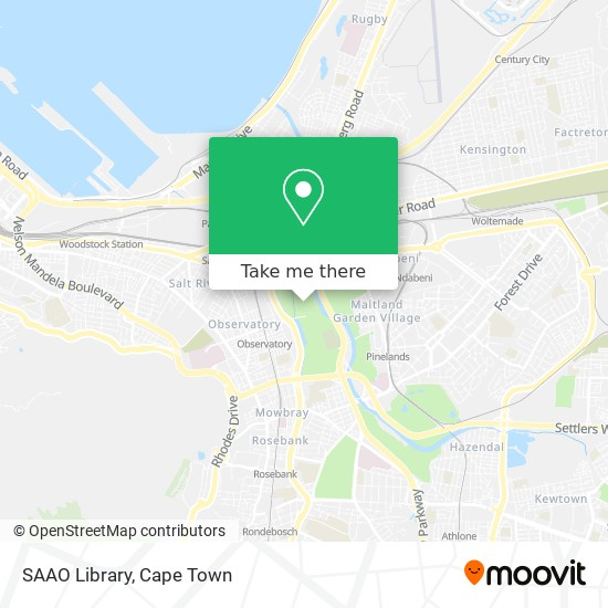 SAAO Library map