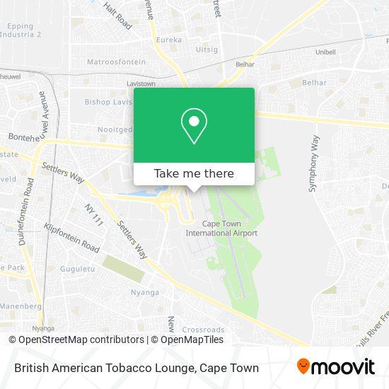 British American Tobacco Lounge map