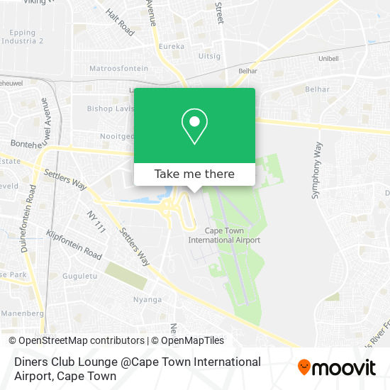 Diners Club Lounge @Cape Town International Airport map