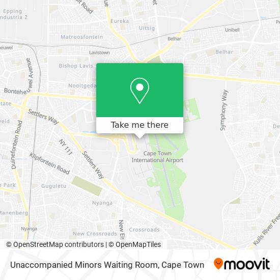 Unaccompanied Minors Waiting Room map