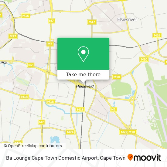 Ba Lounge Cape Town Domestic Airport map