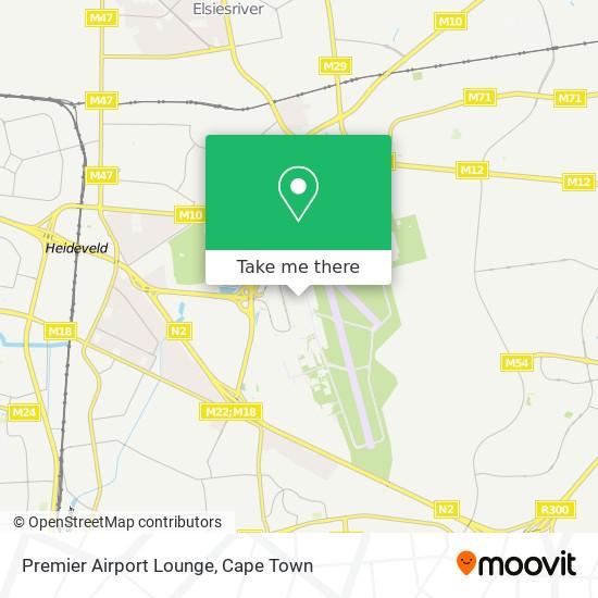Premier Airport Lounge map