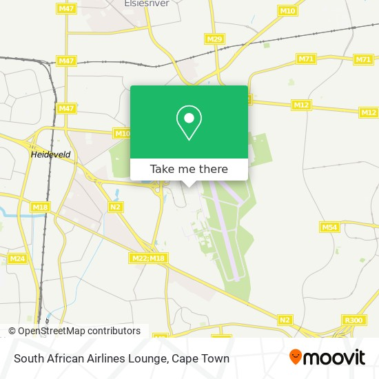 South African Airlines Lounge map