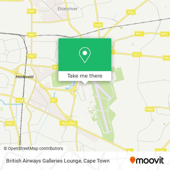 British Airways Galleries Lounge map