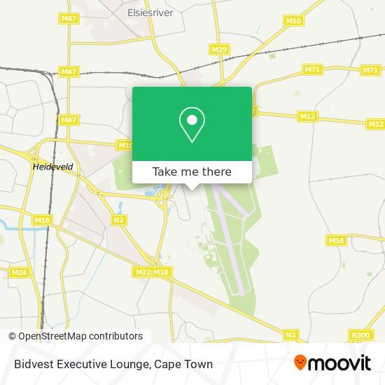 Bidvest Executive Lounge map