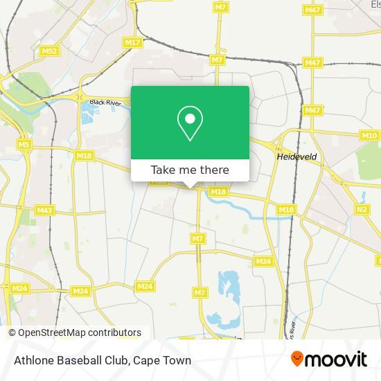 Athlone Baseball Club map