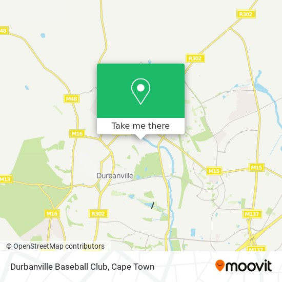 Durbanville Baseball Club map