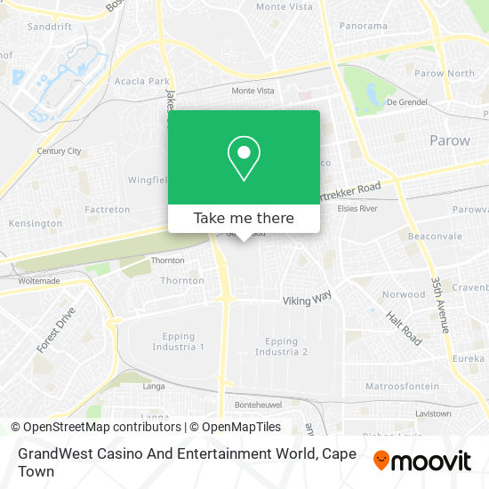 GrandWest Casino And Entertainment World map