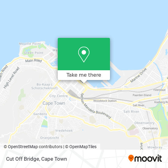 Cut Off Bridge map