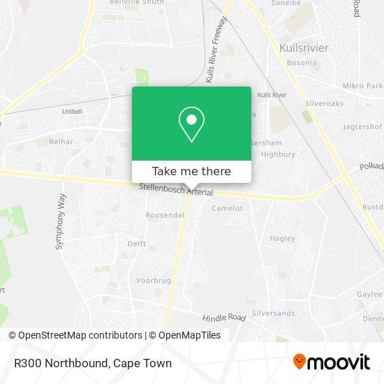 R300 Northbound map