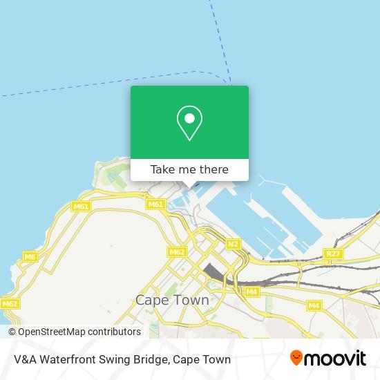 V&A Waterfront Swing Bridge map