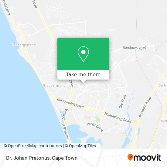 Dr. Johan Pretorius map