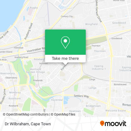 Dr Wilbraham map