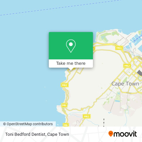 Toni Bedford Dentist map