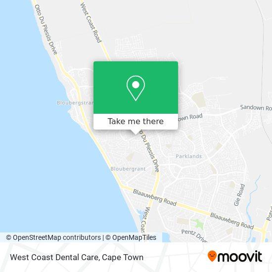 West Coast Dental Care map