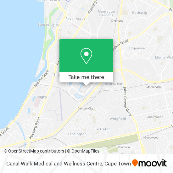 Canal Walk Medical and Wellness Centre map