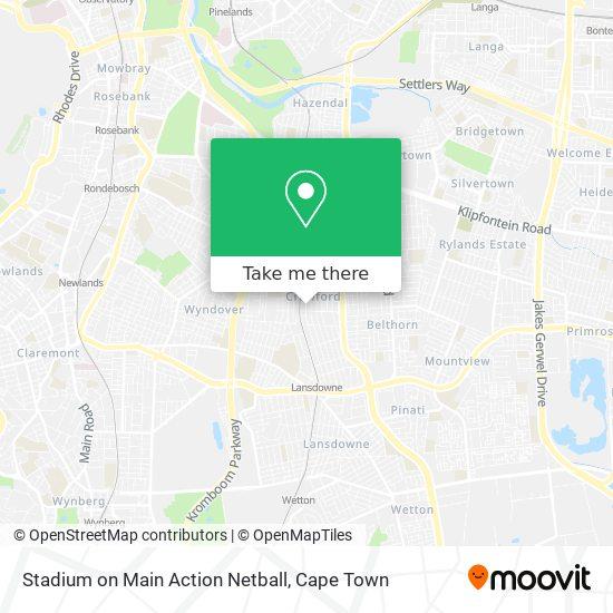 Stadium on Main Action Netball map