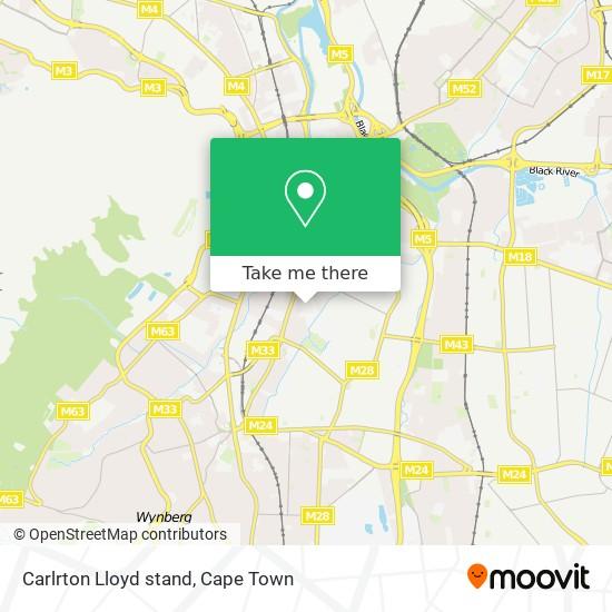 Carlrton Lloyd stand map