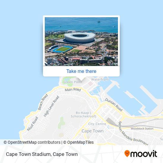 Cape Town Stadium map