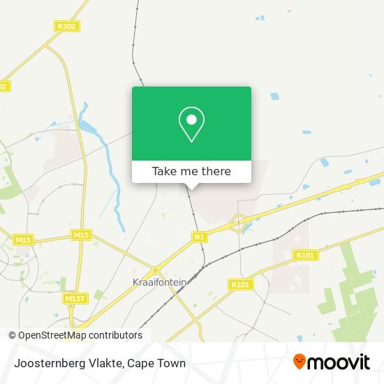 Joosternberg Vlakte map