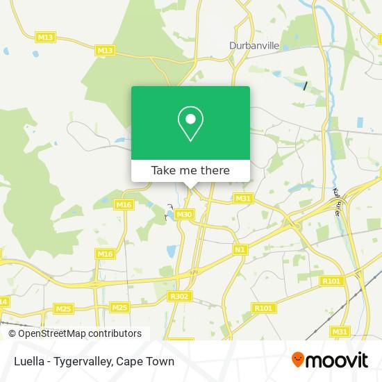 Luella - Tygervalley map