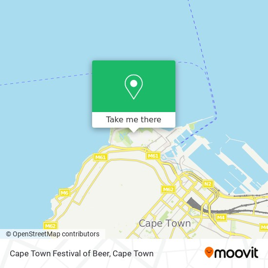 Cape Town Festival of Beer map