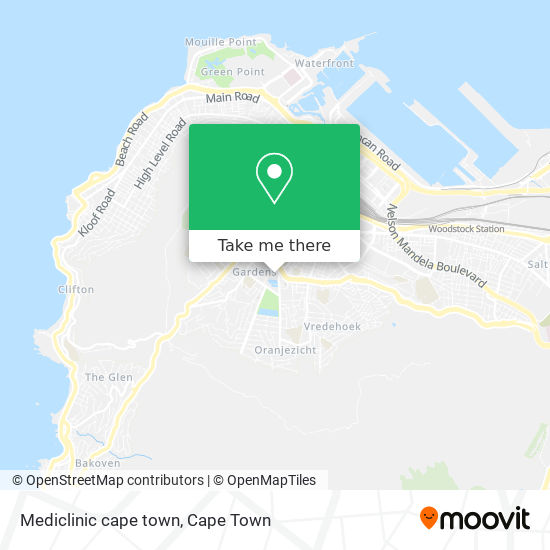 Mediclinic cape town map
