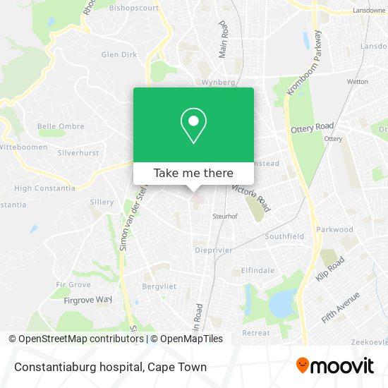 Constantiaburg hospital map