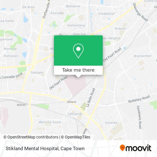 Stikland Mental Hospital map