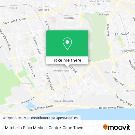 Mitchells Plain Medical Centre map