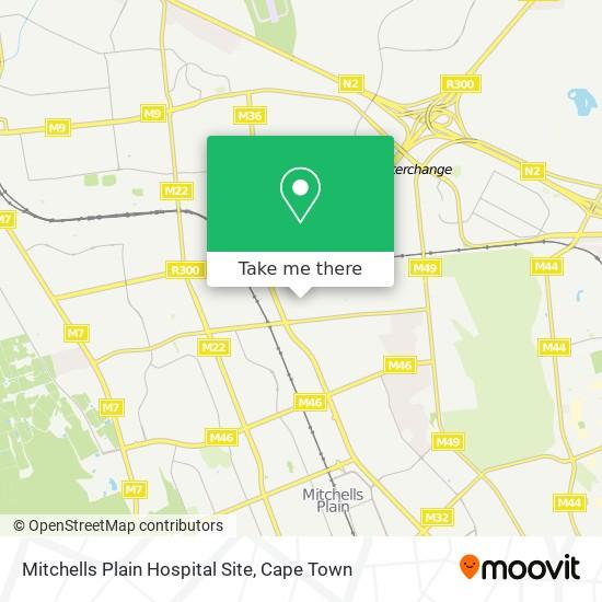 Mitchells Plain Hospital Site map