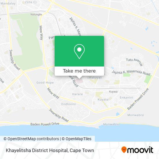 Khayelitsha District Hospital map