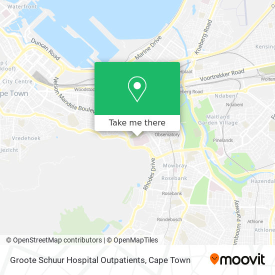 Groote Schuur Hospital Outpatients map