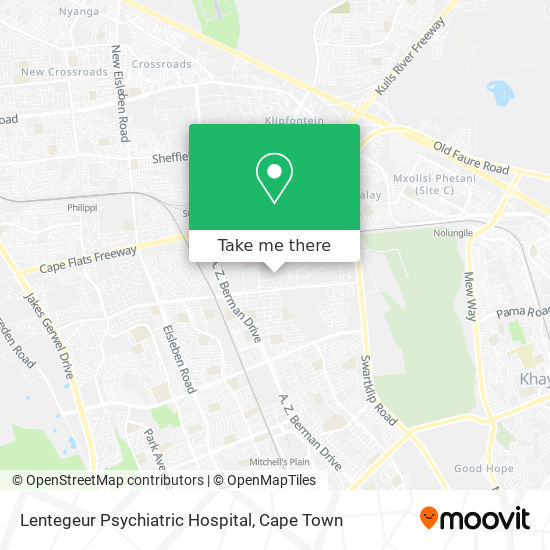 Lentegeur Psychiatric Hospital map