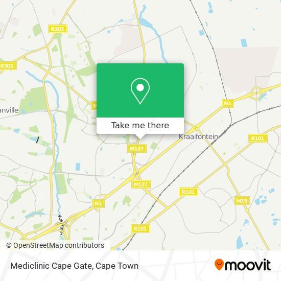 Mediclinic Cape Gate map