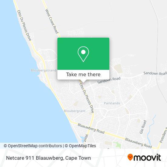 Netcare 911 Blaauwberg map