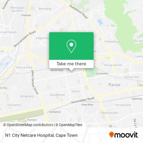 N1 City Netcare Hospital map