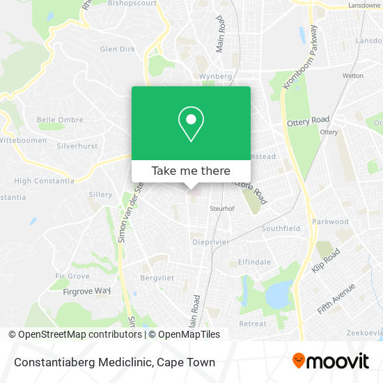 Constantiaberg Mediclinic map