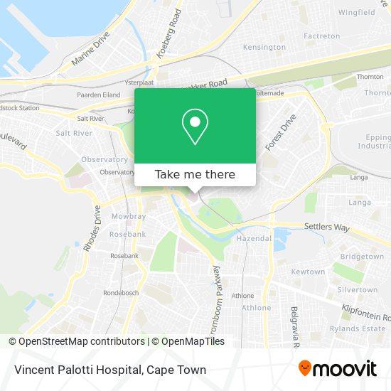 Vincent Palotti Hospital map