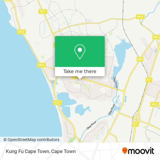 Kung Fu Cape Town map