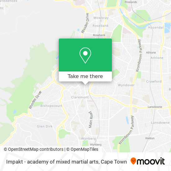 Impakt - academy of mixed martial arts map