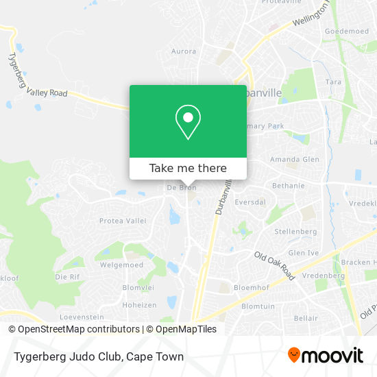 Tygerberg Judo Club map