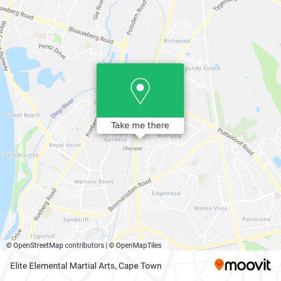 Elite Elemental Martial Arts map