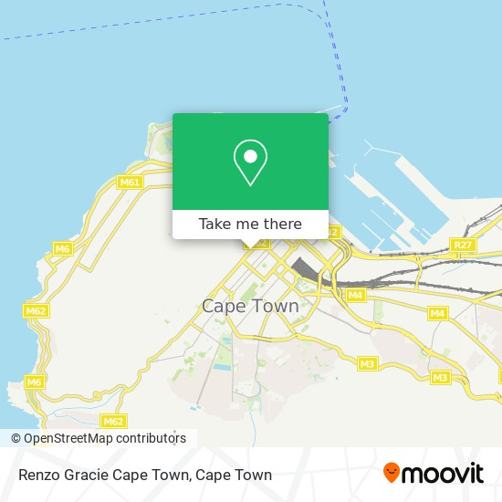 Renzo Gracie Cape Town map