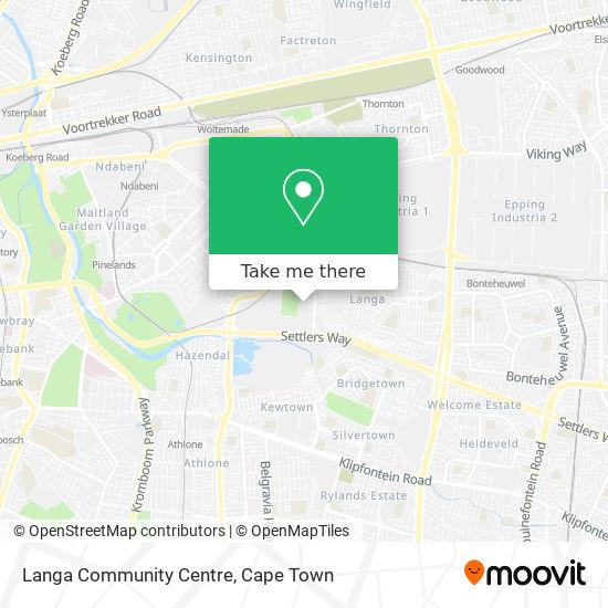 Langa Community Centre map