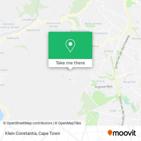 Klein Constantia map