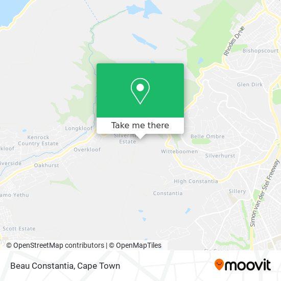 Beau Constantia map