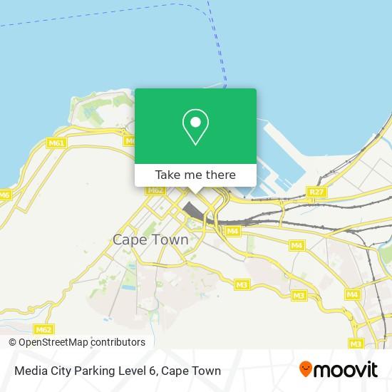 Media City Parking Level 6 map